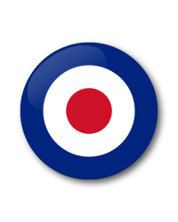 MOD RAF roundel Gel Wheel Centre Badge