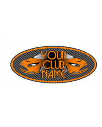 YOUR CLUB NAME 3D Domed Gel Oval Badge