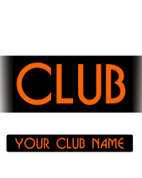 YOUR CLUB NAME Oblong Sticker