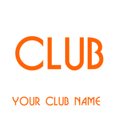 Your Club Name Text Sticker