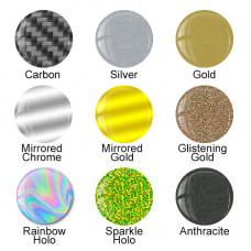 3D Domed Gel Speciality Vinyl Samples