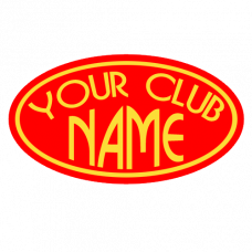 Your Club Name Oval Sticker