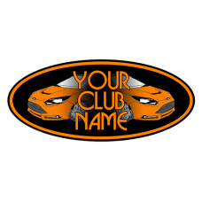 YOUR CLUB NAME Car Oval Sticker