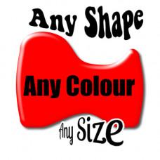 Custom Design Gel single Colour  Contour cut Badge