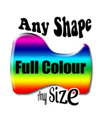 Custom Design Gel Full Colour  Contour cut Badge