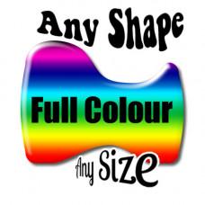 Custom Design Gel Full Colour  Contour cut Badge
