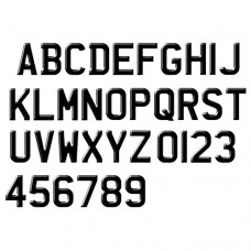 Custom Aftermarket Luxurious Gel Number Plate Font