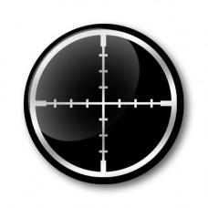 CROSSHAIR Gel Wheel Centre Badge