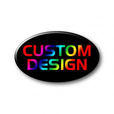 CUSTOM DESIGN Full Colour Oval Hood-Boot Badge