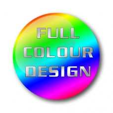 Full Colour Custom Design Gel Wheel Centre Badge