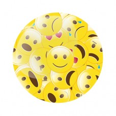 Emoji StickerBomb Gel Wheel Centre Badge