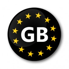 Euro GB Gel Wheel Badges