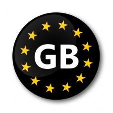 Euro GB Gel Wheel Badges