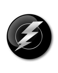 LIGHTNING Gel Wheel Centre Badge