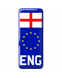 3D Domed Gel Resin ENG Number Plate Sticker Decal Badge with Flag EU Euro Stars
