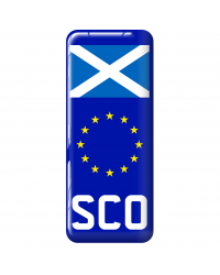 3D Domed Gel Resin SCOTLAND Number Plate Sticker Decal Badge with Flag EU Euro Stars