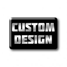 Custom Design Gel Oblong Square Wheel Badge