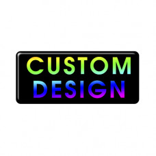 Custom Design Gel Full Colour Oblong Square Badge