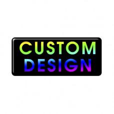 Custom Design Gel Full Colour Oblong Square Badge