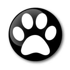 Paw Print Gel Wheel Center Badge