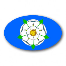 Yorkshire Rose Oval Sticker