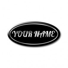 YOUR NAME Oval Hood-Boot Badge